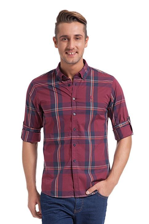 U.S.Polo Assn. Ekose Gömlek Kırmızı